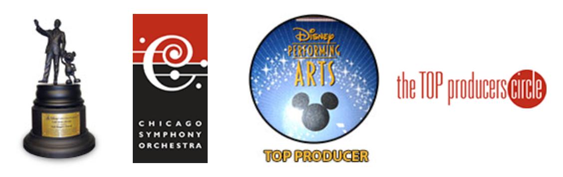 Disney Partners Award, Disney Performing Arts Top Producer Award