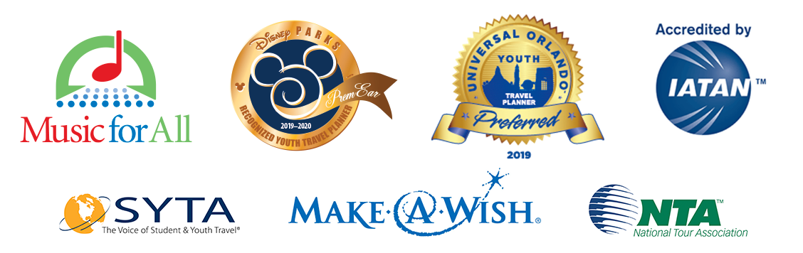 Disney's Partners Award, National Tour Association, the Student & Youth Travel Association, Disney Youth Programs
