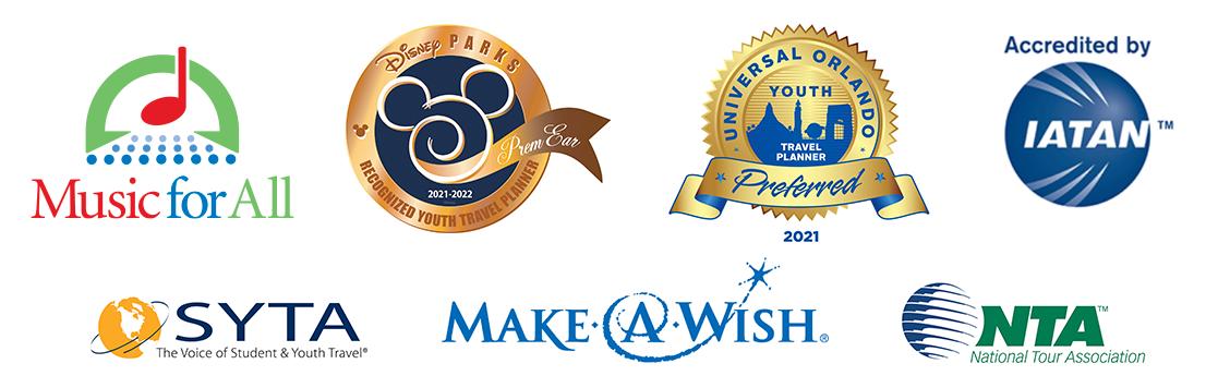 Disney's Partners Award, National Tour Association, the Student & Youth Travel Association, Disney Youth Programs