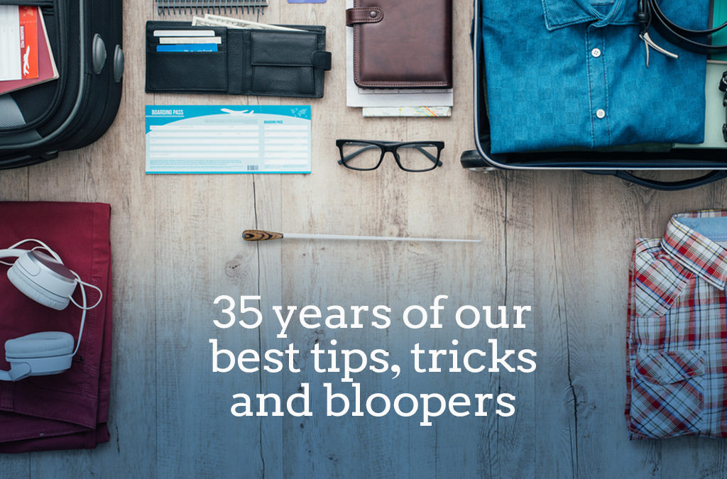 Travel tips, tricks and bloopers: 35 years of BRT's lessons learned