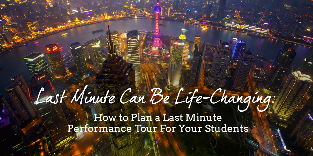 Not Too Late – Planning Your Group's Last Minute Trip