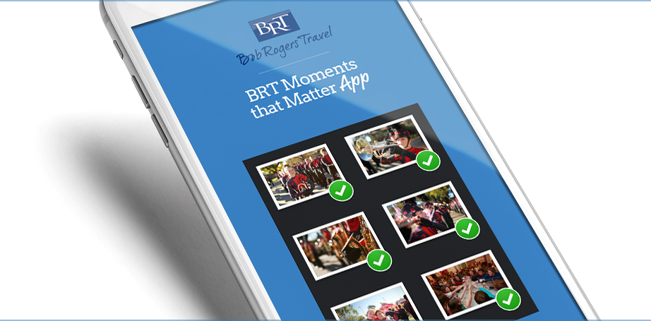 Performance group travel technology tools Moments that Matter App